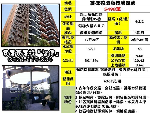 (Sold out)電梯物件推薦-寶徠花園A2-17F