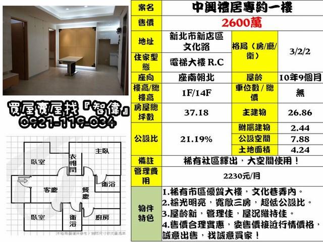 電梯物件推薦-中興禮居專約一樓