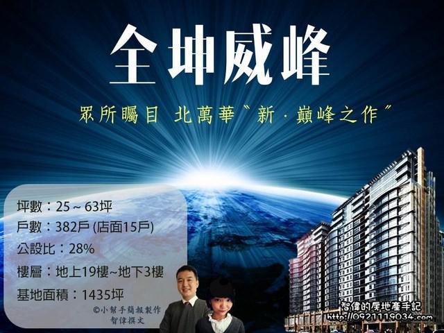 萬華指標建案-全坤威峰