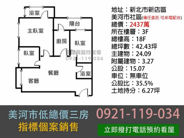 (Sold out)電梯物件推薦-美河市低總價三房