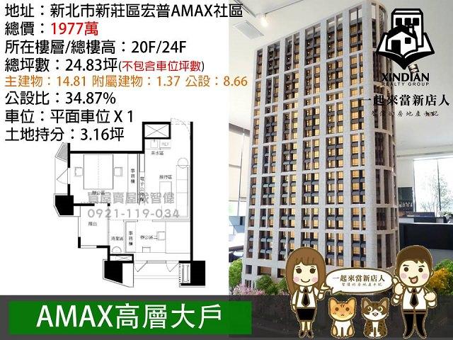電梯物件推薦-AMAX高層大戶 [新莊]