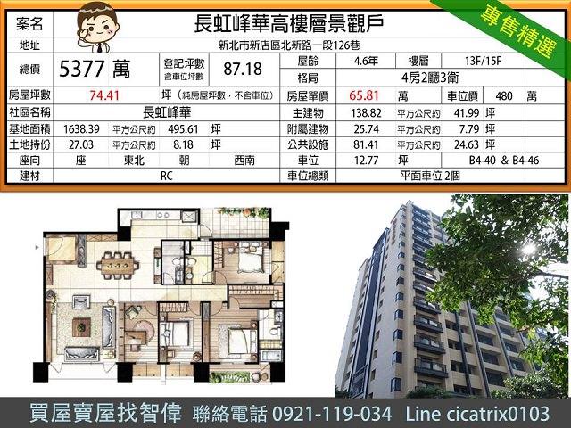 電梯物件推薦-長虹峰華高樓層景觀戶